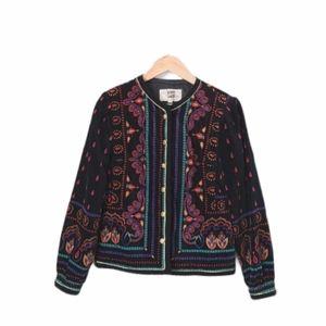 Vintage Jacket Blazer Velvet Black SAXTON HALL 6
